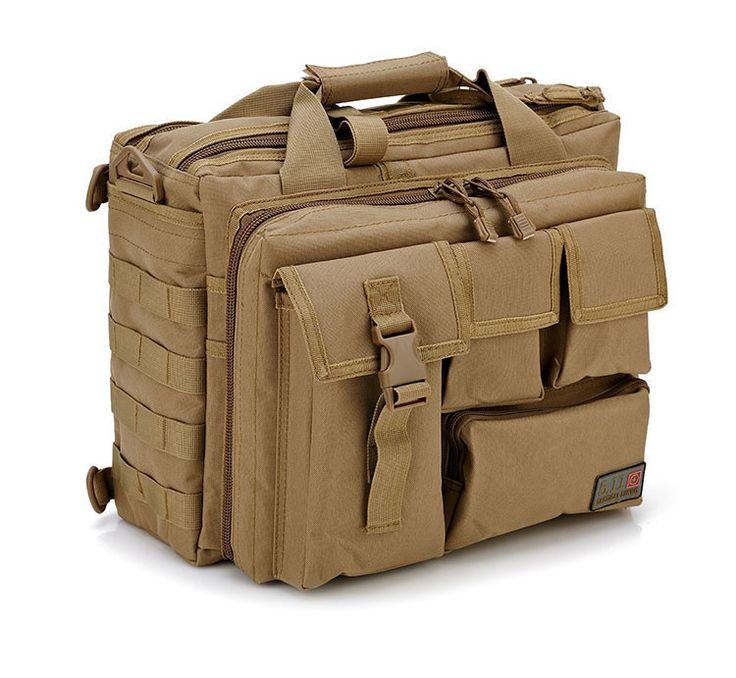 "Men's Shoulder Bags Molle Outdoor Sport Rucksack 15"" Laptop Camera Mochila Military Tactical Computer Bag"