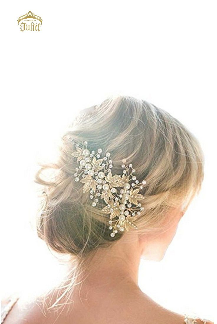 Shania Bridal Headpiece Crystal Accessory Maple Leaf Wedding Hair Piece