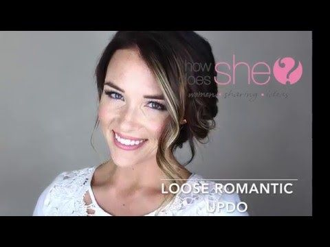 """This video, created for howdoesshe.com, shows you how to achieve the perfect romantic updo! """"Clear Air"""" Kevin MacLeod (incompetech.com) Licensed under Creati..."""