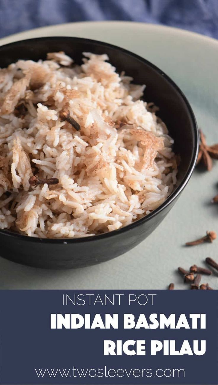 Even though this is not low-carb, keto, or anything in between, I still love this recipe for Instant Pot Indian Basmati Rice Pilau. I know I need to stick to my diet, but I sometimes NEED to have some rice as a side with a dish. It is made in an Instant Pot though, so it matches some of my recipes.  via @twosleevers