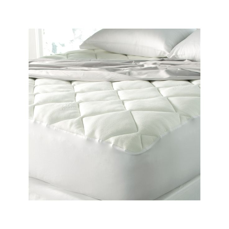 Cool Touch Mattress Pad Made with Rayon from Bamboo (Twin XL) - Spa Luxury, White