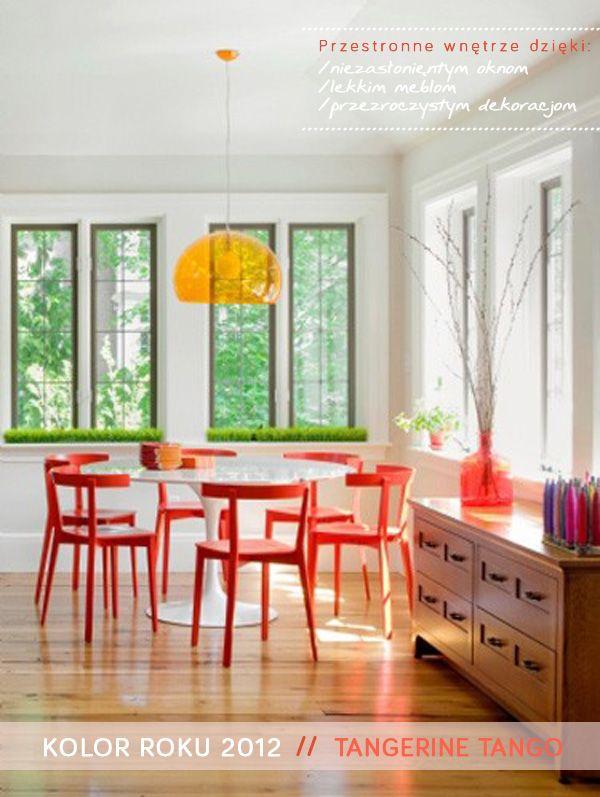 tangerine tango dinign room # jadalnia pomaranczowe akcenty