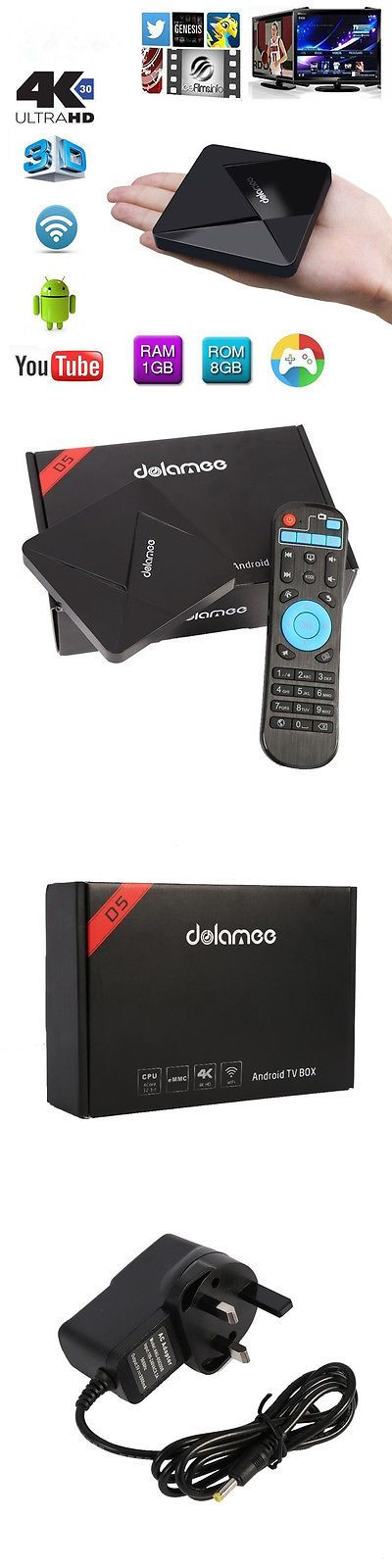 electronics: Dolamee D5 Smart Mini Tv Box Android 5.1 4K Hd 8Gb Quad Core Wifi Bluetooth Hot BUY IT NOW ONLY: $33.99