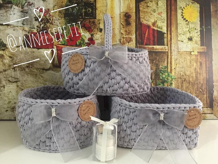 En tatlı sepetler  #baskets #crochet #örgü