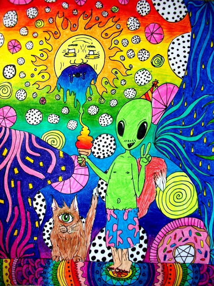 art aliens psychedelic - photo #27