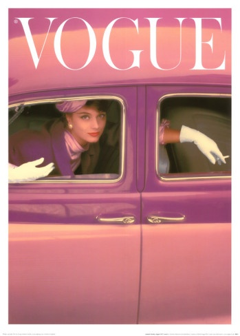 Autumn Fuchsia, Fashion becomes fantasy in this iconic  1957 Vogue Cover. Renowned fashion photographer Norman Parkinson (1913 – 1990) had an illustrious 30-year career with British Vogue and American Vogue, and is celebrated for his captivating images of fashion and high society