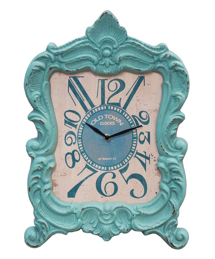 Teal Mantel Clock by  #zulily