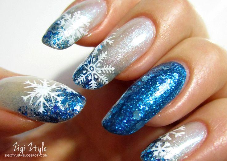 ZigiZtyle: Snowflakes Falling on My Nails / Lumihiutalekynnet