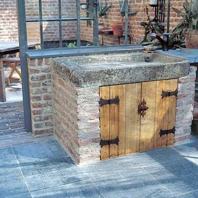 Kempische Bouwmaterialen - Oude wasbakken