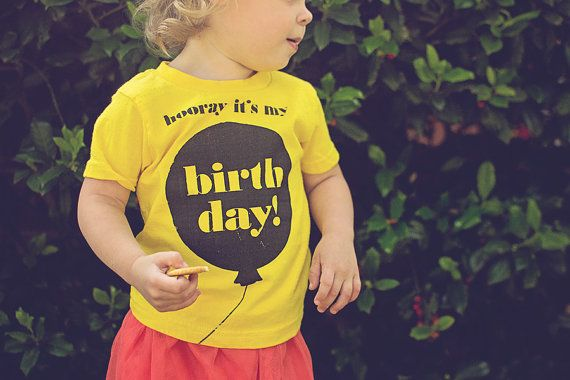 """""""Hooray It's My Birthday"""" // Toddler T-Shirt. I love this idea. Have one made for every year. Keep them all - will be great for their kids to wear on birthdays!"""