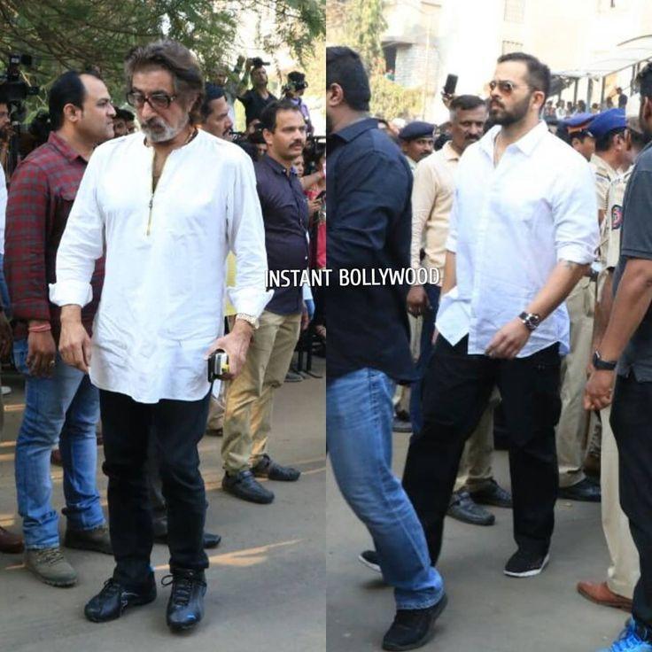Rohit Shetty and Shakti Kapoor arrive at the funeral of the late Sridevi ji. @instantbollywood . . . #Instantbollywood #Instabollywood #bollywood #rohitshetty #ShaktiKapoor