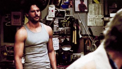 Pin for Later: 15 Times Joe Manganiello Made True Blood Totally Worth Watching When He Folds His Arms All Sexy Like Alcide = not impressed.
