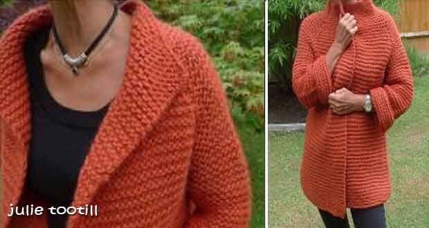 Un document bien détaillé qui explique comment tricoter facilement  gilet-veste oversize à grosses mailles, tricoté au point mousse de haut en  bas avec de ... 83bcbc5d32d