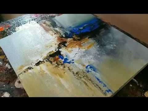 Abstract Painting / Acrylic Mixing / Palette Knife and Brush / Demonstration – YouTube