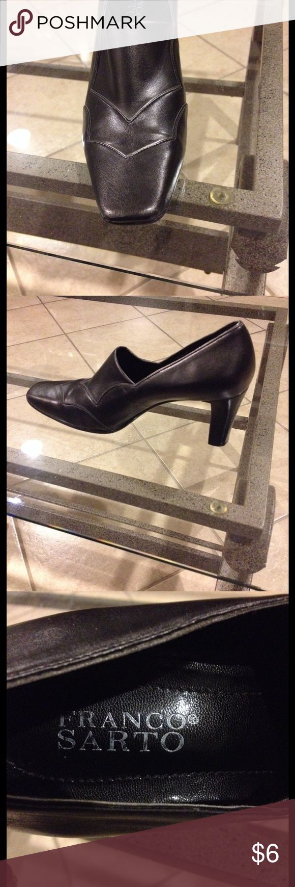8M Franco Sarto shoes good condition Size 8M Franco Sarto Pewter shoes 3 inch heels good condition Franco Sarto Shoes