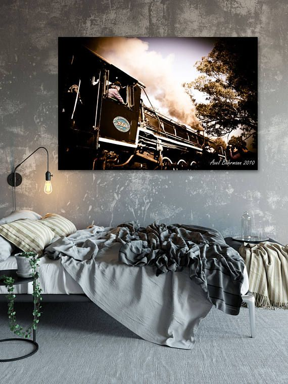 Printable Wall Art - Steam Train to a new Adventure, South Africa, Original Photography print