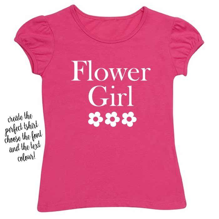 Flowergirl Printed TShirt  - Child