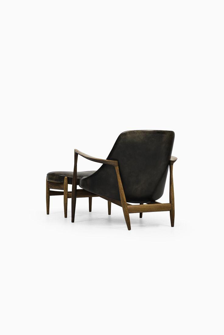 Ib Kofod-Larsen easy chair with stool model Elizabeth at Studio Schalling