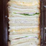 日向市のパンとお菓子の店 みずわき 卵、ハムチーズ、ツナの3種類美味し!