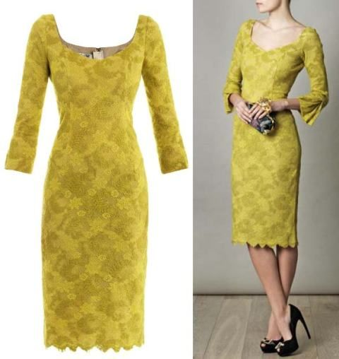 Simple stunning Chartruese lace dress #mybetsonBetts