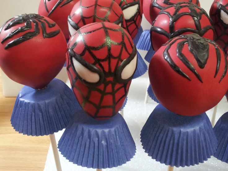 My First Spiderman Cake Pops My Cake Balls And Cake
