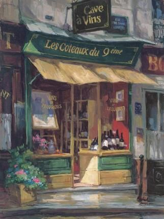 Montmarte Wine Shop ~ by George Botich