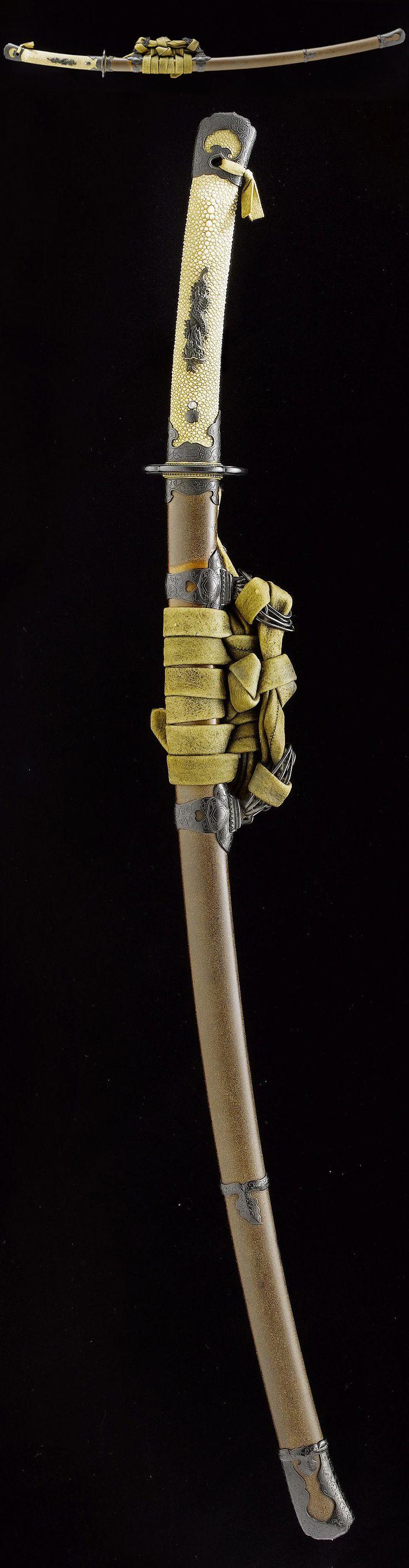 Tachi Koshirae with Beautiful Handachi Fittings - Samurai Sword Shop Info Center