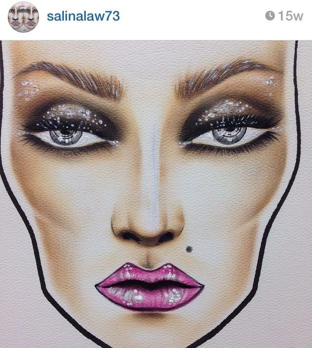 Face Chart via Instagram
