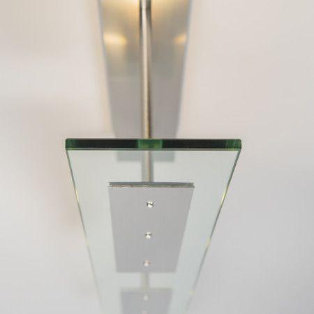 Deckenleuchte Credo 4 hell: Sehr schöne Deckenleuchte, bestehend aus einer geraden Glasplatte mit LED-Beleuchtung. Sehr minimalistisch und überall einsetzbar. #innenbeleuchtung #Pendelleuchte #Licht #modern #hängelleuchte