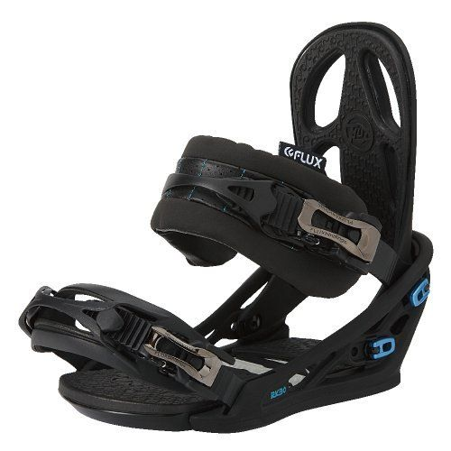 Flux Mens Snowboard Bindings (Flat Black, Large),RK30 by Flux Bindings. $140.73. Whether killing kickers in the park or slaying handrails in front of City Hall, the Flux RK30 Snowboard Binding is ready to terrorize your neighborhood.  The Genetic baseplate and urethane highback provide plenty of flexibility.  The shock absorbing EVA cushion lets you land on concrete day in and day out.  Your body will thank you.Key Features of the Flux RK30 Snowboard Bindings: Genetic Base...