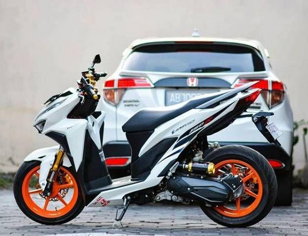20 Modifikasi Motor Honda Vario 150 Warna Putih Motor Honda