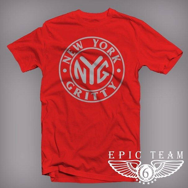 "Red & Heather Gray ""New York Gritty"" T-Shirt is dropping next week and will be on our site www.ShopET6.com very soon. #epicteam6 #clothing #culture #independent #brand #urban #street #nyc #skatelife #streetwear #custom #design #fashion #icon #waves #fly #fresh #business #entrepreneur #dope #music #hiphop #legacy #tradition #ambition #determination #waves #paperchasers"