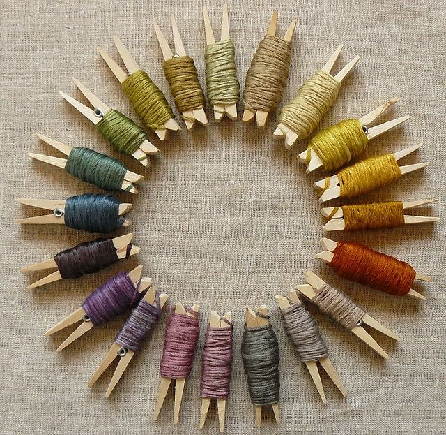 Love this - The idea of storing yarn / floss