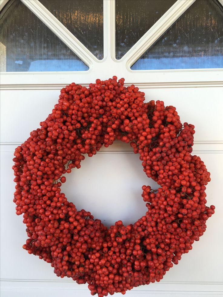 Rognebærkrans // rowanberry wreath - 25 mins