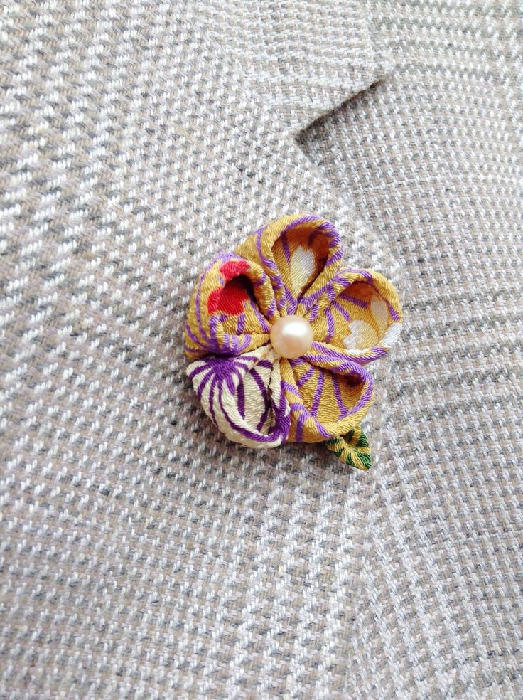 Mens Lapel Pin Flower Lapel Pin Gold Lapel Flower Custom Lapel Pin Men Kanzashi Brooch Silk Boutonniere Colorful Japanese Lapel Gift For Him by exquisitelapel on Etsy https://www.etsy.com/listing/228218410/mens-lapel-pin-flower-lapel-pin-gold