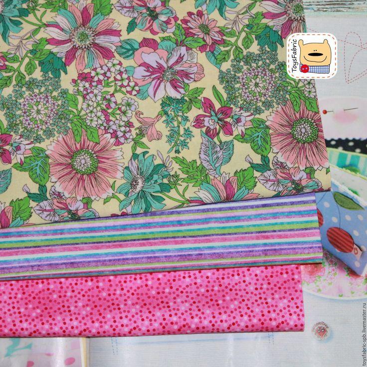 Купить Набор тканей для пэчворка Цветочный (51741) - ткань для творчества, ткань для рукоделия, ткани для пэчворка