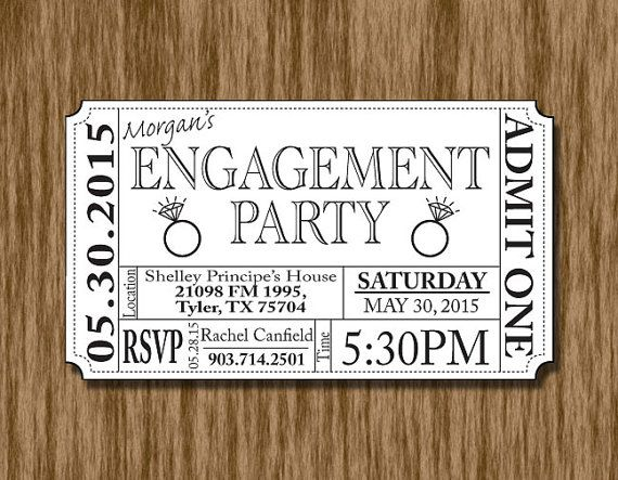 Best 20 Ticket invitation ideas – Engagement Party Invitations Cheap