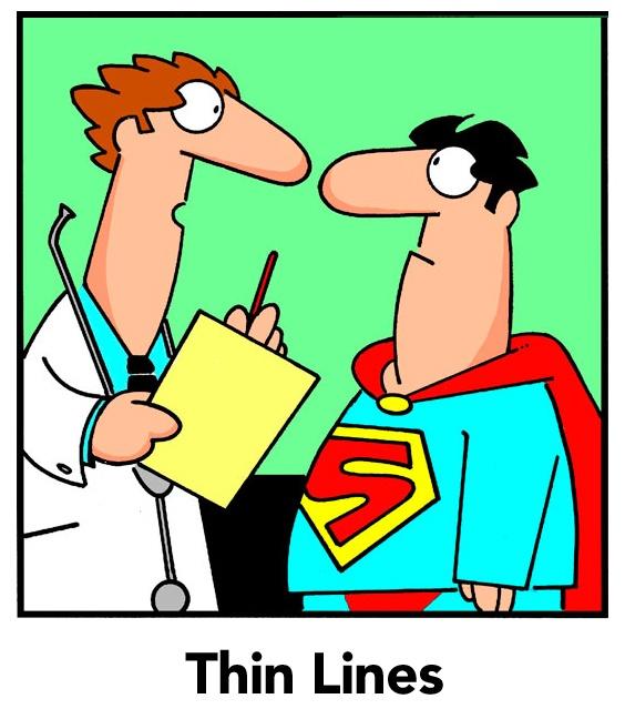 Thin Lines by Randy Glasbergen   http://gocomics.com/thinlines   #comics #men #humor   © Randy Glasbergen