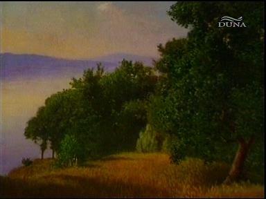 Szinyei Merse Pál: Balaton a fonyódi strandról (festmény)