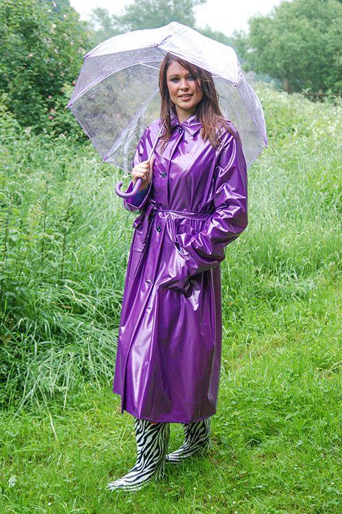 Lilac PVC Raincoat - http://fashionrainwear.co.uk/