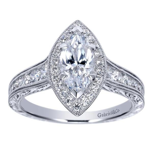 vintage inspired halo marquise diamond engagement ring. Black Bedroom Furniture Sets. Home Design Ideas