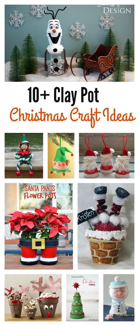10+ Creative Clay Pot Christmas Craft Ideas
