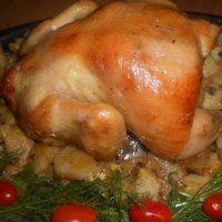 Рождественские рецепты. Курица на банке