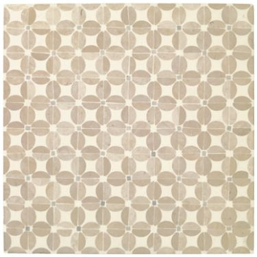 Milanese Mosaic- Flower, an intricate, honed and polished stone mosaic tile with a beautifully tactile finish