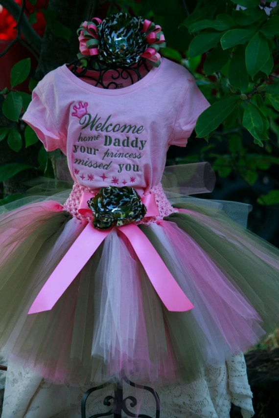 Welcome Home  Tutu and embroidered shirt by TinasOnceUponATutu