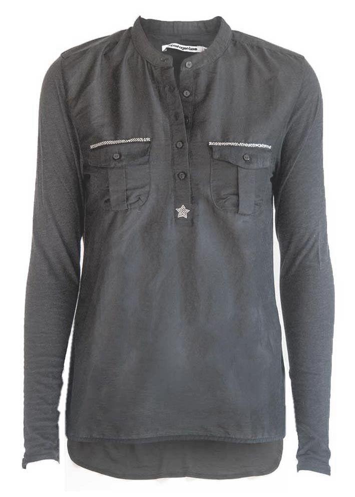 Copenhagen Luxe Skjorte grå 7344 Silk-Modal Shirt grey – Acorns