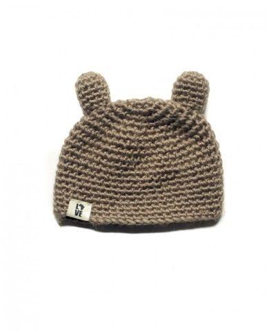 Bear Crocheted kid's hat