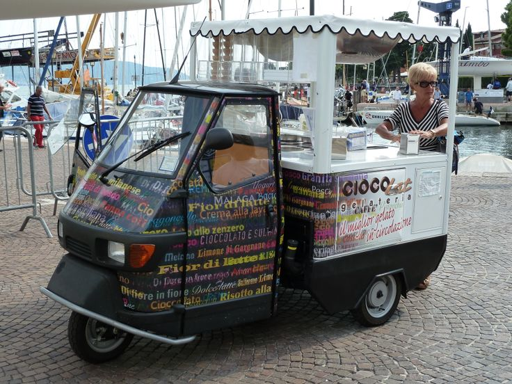 "Typical ice-cream ""ape"" in Gargnano - Italy"