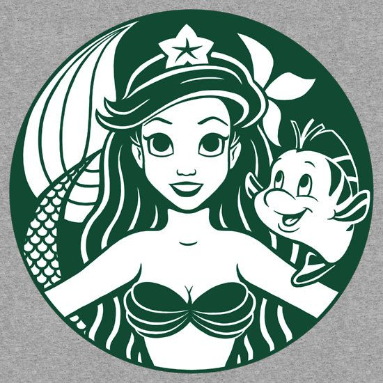 Sirenbucks by Ellador (I don't really like Starbucks, but I do love Ariel!) Can I please get this printed on a travel cup?!
