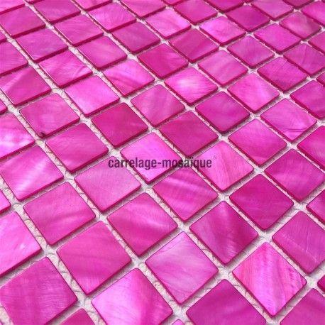 9 best carrelage mosaique de nacre images on Pinterest Kitchens - mosaique rose salle de bain
